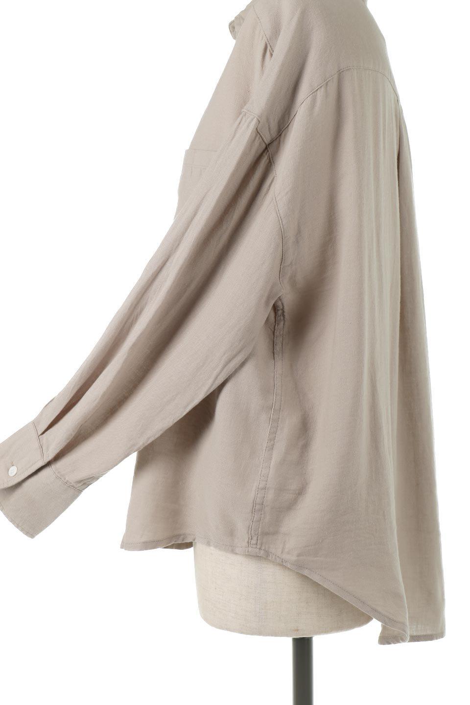 LooseFitLongSleeveLinenShirtsコットンリネン・ベーシックシャツ大人カジュアルに最適な海外ファッションのothers(その他インポートアイテム)のトップスやシャツ・ブラウス。コットン、リネン、レーヨンを使用し、ナチュラル素材にしなやかさをプラスするレーヨンを混ぜたルーズフィットスタイルのシャツ。くたっと柔らかでベーシックなスタイルの着回しやすいアイテムです。/main-20