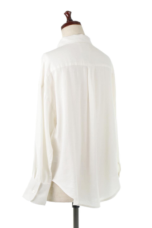 LooseFitLongSleeveLinenShirtsコットンリネン・ベーシックシャツ大人カジュアルに最適な海外ファッションのothers(その他インポートアイテム)のトップスやシャツ・ブラウス。コットン、リネン、レーヨンを使用し、ナチュラル素材にしなやかさをプラスするレーヨンを混ぜたルーズフィットスタイルのシャツ。くたっと柔らかでベーシックなスタイルの着回しやすいアイテムです。/main-3