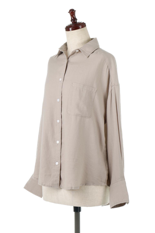 LooseFitLongSleeveLinenShirtsコットンリネン・ベーシックシャツ大人カジュアルに最適な海外ファッションのothers(その他インポートアイテム)のトップスやシャツ・ブラウス。コットン、リネン、レーヨンを使用し、ナチュラル素材にしなやかさをプラスするレーヨンを混ぜたルーズフィットスタイルのシャツ。くたっと柔らかでベーシックなスタイルの着回しやすいアイテムです。/main-6