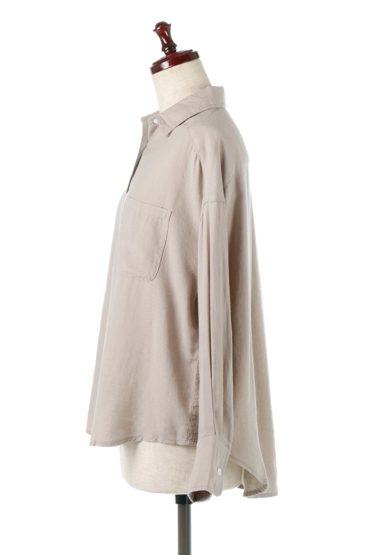 LooseFitLongSleeveLinenShirtsコットンリネン・ベーシックシャツ大人カジュアルに最適な海外ファッションのothers(その他インポートアイテム)のトップスやシャツ・ブラウス。コットン、リネン、レーヨンを使用し、ナチュラル素材にしなやかさをプラスするレーヨンを混ぜたルーズフィットスタイルのシャツ。くたっと柔らかでベーシックなスタイルの着回しやすいアイテムです。/main-7