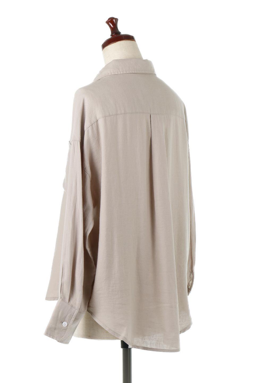 LooseFitLongSleeveLinenShirtsコットンリネン・ベーシックシャツ大人カジュアルに最適な海外ファッションのothers(その他インポートアイテム)のトップスやシャツ・ブラウス。コットン、リネン、レーヨンを使用し、ナチュラル素材にしなやかさをプラスするレーヨンを混ぜたルーズフィットスタイルのシャツ。くたっと柔らかでベーシックなスタイルの着回しやすいアイテムです。/main-8