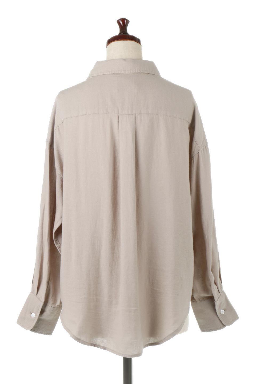 LooseFitLongSleeveLinenShirtsコットンリネン・ベーシックシャツ大人カジュアルに最適な海外ファッションのothers(その他インポートアイテム)のトップスやシャツ・ブラウス。コットン、リネン、レーヨンを使用し、ナチュラル素材にしなやかさをプラスするレーヨンを混ぜたルーズフィットスタイルのシャツ。くたっと柔らかでベーシックなスタイルの着回しやすいアイテムです。/main-9