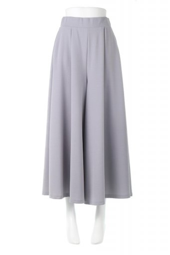 海外ファッションや大人カジュアルに最適なインポートセレクトアイテムのStretch Wide Fit Flare Pants クレープ生地・タックフレアパンツ