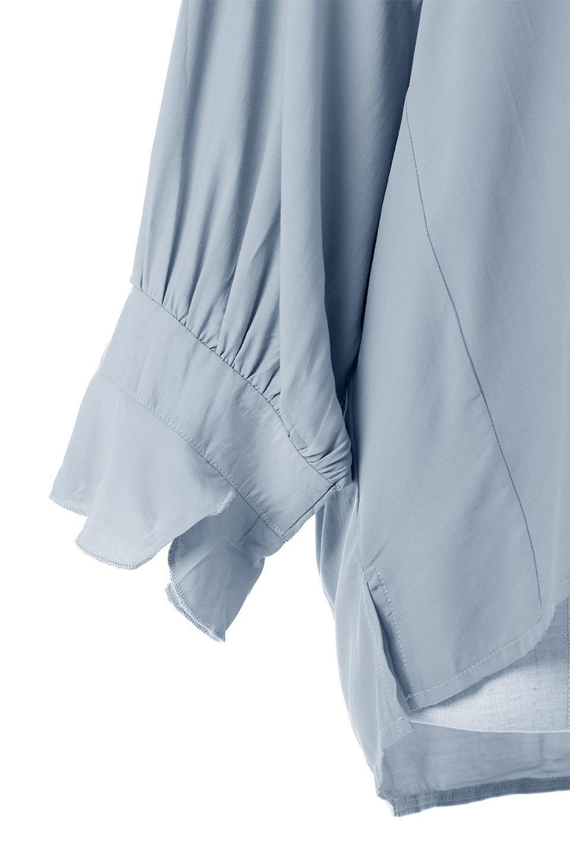 FrillSleeveSlitNeckBlouse袖フリル・キーネックブラウス大人カジュアルに最適な海外ファッションのothers(その他インポートアイテム)のトップスやシャツ・ブラウス。さりげない袖のフリルが可愛らしすぎずオトナな印象のブラウス。くびもとはVネックになっているのですっきりして、パンツにもスカートにも合わせやすい丈感。/main-18