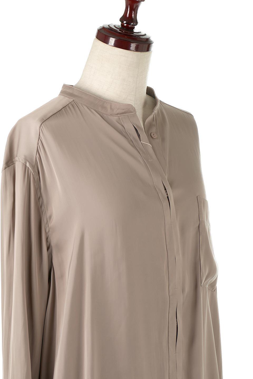 SatinLongShirtsTunicロング丈・サテンシャツチュニック大人カジュアルに最適な海外ファッションのothers(その他インポートアイテム)のトップスやシャツ・ブラウス。普段のコーディネートにプラスするだけで可愛いコーデが完成するツヤ感のあるシャツチュニック。お尻までしっかりと隠れるオーバーサイズがかわいく、いろいろと着こなしができるアイテム。/main-10