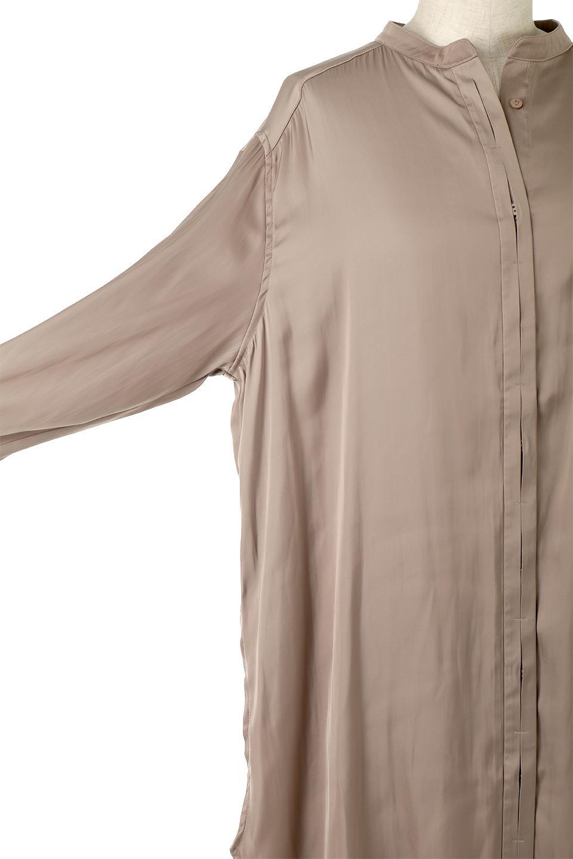 SatinLongShirtsTunicロング丈・サテンシャツチュニック大人カジュアルに最適な海外ファッションのothers(その他インポートアイテム)のトップスやシャツ・ブラウス。普段のコーディネートにプラスするだけで可愛いコーデが完成するツヤ感のあるシャツチュニック。お尻までしっかりと隠れるオーバーサイズがかわいく、いろいろと着こなしができるアイテム。/main-16