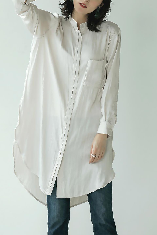 SatinLongShirtsTunicロング丈・サテンシャツチュニック大人カジュアルに最適な海外ファッションのothers(その他インポートアイテム)のトップスやシャツ・ブラウス。普段のコーディネートにプラスするだけで可愛いコーデが完成するツヤ感のあるシャツチュニック。お尻までしっかりと隠れるオーバーサイズがかわいく、いろいろと着こなしができるアイテム。/main-21