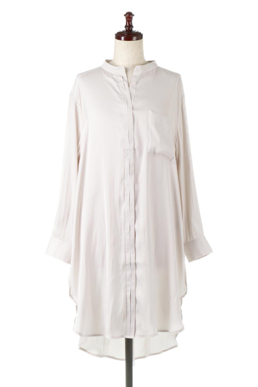 SatinLongShirtsTunicロング丈・サテンシャツチュニック大人カジュアルに最適な海外ファッションのothers(その他インポートアイテム)のトップスやシャツ・ブラウス。普段のコーディネートにプラスするだけで可愛いコーデが完成するツヤ感のあるシャツチュニック。お尻までしっかりと隠れるオーバーサイズがかわいく、いろいろと着こなしができるアイテム。/main-5