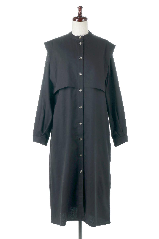 TwillFauxLayeredFullOpenDressコットンツイル・ワンピースコート大人カジュアルに最適な海外ファッションのothers(その他インポートアイテム)のアウターやコート。クラシカルなヨークデザインが新鮮なコットンツイルのワンピースコート。シルエットが綺麗に見えるコットンツイルのハリ感のある生地を使用。/main-10