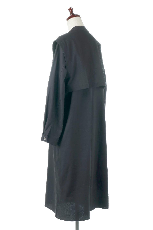 TwillFauxLayeredFullOpenDressコットンツイル・ワンピースコート大人カジュアルに最適な海外ファッションのothers(その他インポートアイテム)のアウターやコート。クラシカルなヨークデザインが新鮮なコットンツイルのワンピースコート。シルエットが綺麗に見えるコットンツイルのハリ感のある生地を使用。/main-13