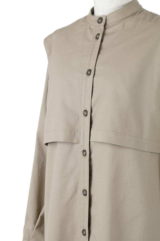 TwillFauxLayeredFullOpenDressコットンツイル・ワンピースコート大人カジュアルに最適な海外ファッションのothers(その他インポートアイテム)のアウターやコート。クラシカルなヨークデザインが新鮮なコットンツイルのワンピースコート。シルエットが綺麗に見えるコットンツイルのハリ感のある生地を使用。/main-15