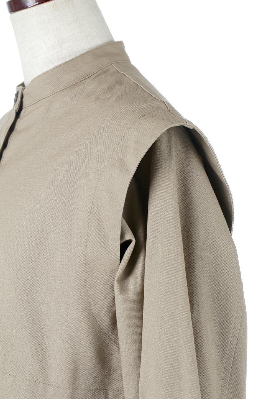 TwillFauxLayeredFullOpenDressコットンツイル・ワンピースコート大人カジュアルに最適な海外ファッションのothers(その他インポートアイテム)のアウターやコート。クラシカルなヨークデザインが新鮮なコットンツイルのワンピースコート。シルエットが綺麗に見えるコットンツイルのハリ感のある生地を使用。/main-17