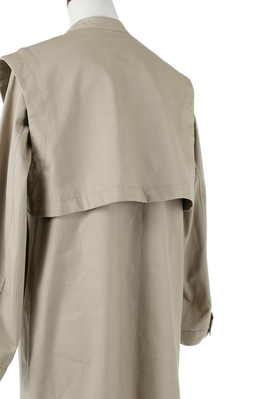 TwillFauxLayeredFullOpenDressコットンツイル・ワンピースコート大人カジュアルに最適な海外ファッションのothers(その他インポートアイテム)のアウターやコート。クラシカルなヨークデザインが新鮮なコットンツイルのワンピースコート。シルエットが綺麗に見えるコットンツイルのハリ感のある生地を使用。/main-18