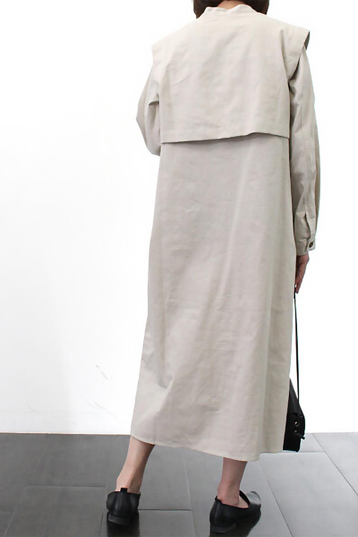 TwillFauxLayeredFullOpenDressコットンツイル・ワンピースコート大人カジュアルに最適な海外ファッションのothers(その他インポートアイテム)のアウターやコート。クラシカルなヨークデザインが新鮮なコットンツイルのワンピースコート。シルエットが綺麗に見えるコットンツイルのハリ感のある生地を使用。/main-25