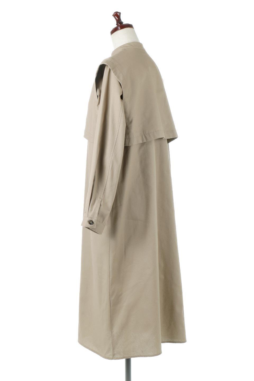 TwillFauxLayeredFullOpenDressコットンツイル・ワンピースコート大人カジュアルに最適な海外ファッションのothers(その他インポートアイテム)のアウターやコート。クラシカルなヨークデザインが新鮮なコットンツイルのワンピースコート。シルエットが綺麗に見えるコットンツイルのハリ感のある生地を使用。/main-3