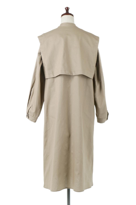 TwillFauxLayeredFullOpenDressコットンツイル・ワンピースコート大人カジュアルに最適な海外ファッションのothers(その他インポートアイテム)のアウターやコート。クラシカルなヨークデザインが新鮮なコットンツイルのワンピースコート。シルエットが綺麗に見えるコットンツイルのハリ感のある生地を使用。/main-4