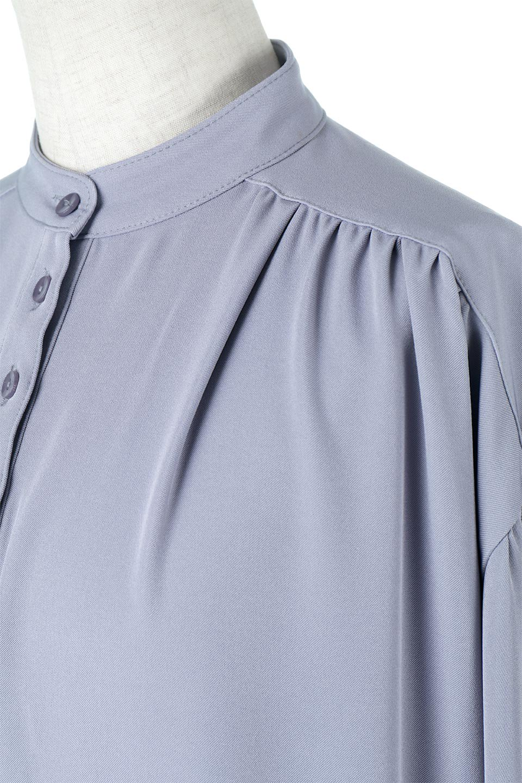 PuffSleeveLongDressスタンドカラー・裾切り替えワンピース大人カジュアルに最適な海外ファッションのothers(その他インポートアイテム)のワンピースやマキシワンピース。切り替えになった裾のフレアシルエットが可愛いロングワンピース。しっかりした生地でストレッチも効いた着心地の良いアイテムです。/main-17