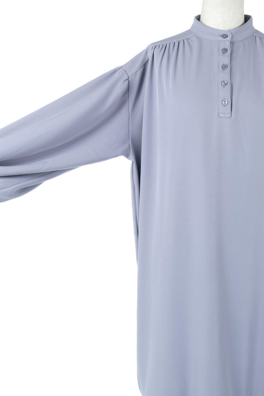 PuffSleeveLongDressスタンドカラー・裾切り替えワンピース大人カジュアルに最適な海外ファッションのothers(その他インポートアイテム)のワンピースやマキシワンピース。切り替えになった裾のフレアシルエットが可愛いロングワンピース。しっかりした生地でストレッチも効いた着心地の良いアイテムです。/main-18
