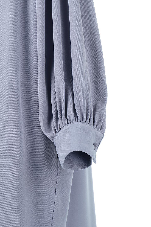 PuffSleeveLongDressスタンドカラー・裾切り替えワンピース大人カジュアルに最適な海外ファッションのothers(その他インポートアイテム)のワンピースやマキシワンピース。切り替えになった裾のフレアシルエットが可愛いロングワンピース。しっかりした生地でストレッチも効いた着心地の良いアイテムです。/main-19