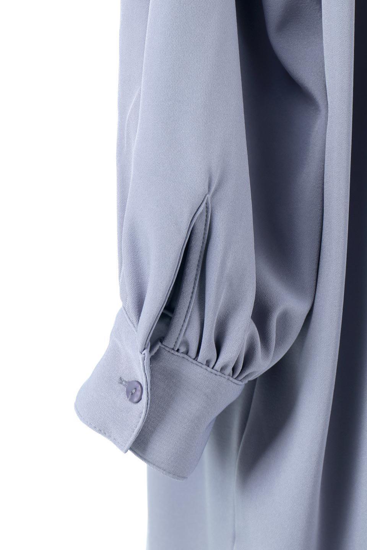 PuffSleeveLongDressスタンドカラー・裾切り替えワンピース大人カジュアルに最適な海外ファッションのothers(その他インポートアイテム)のワンピースやマキシワンピース。切り替えになった裾のフレアシルエットが可愛いロングワンピース。しっかりした生地でストレッチも効いた着心地の良いアイテムです。/main-20