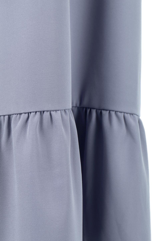 PuffSleeveLongDressスタンドカラー・裾切り替えワンピース大人カジュアルに最適な海外ファッションのothers(その他インポートアイテム)のワンピースやマキシワンピース。切り替えになった裾のフレアシルエットが可愛いロングワンピース。しっかりした生地でストレッチも効いた着心地の良いアイテムです。/main-21