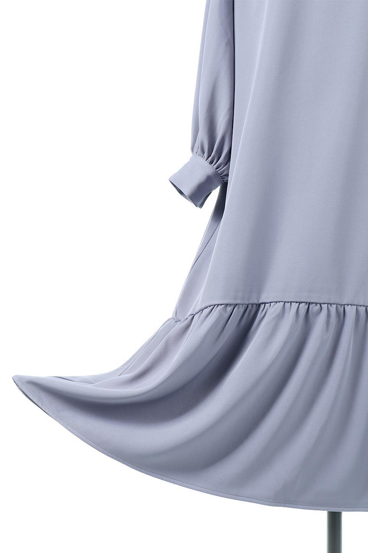 PuffSleeveLongDressスタンドカラー・裾切り替えワンピース大人カジュアルに最適な海外ファッションのothers(その他インポートアイテム)のワンピースやマキシワンピース。切り替えになった裾のフレアシルエットが可愛いロングワンピース。しっかりした生地でストレッチも効いた着心地の良いアイテムです。/main-22