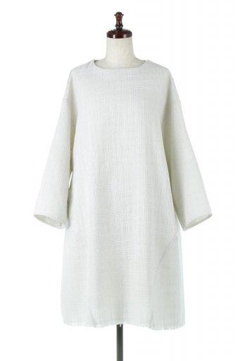 海外ファッションや大人カジュアルに最適なインポートセレクトアイテムのTweed Tunic Dress ツイード・チュニックワンピース