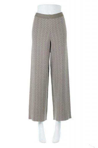 海外ファッションや大人カジュアルに最適なインポートセレクトアイテムのJacquard Weave Soft Knit Pants ソフトジャカード・ニットパンツ