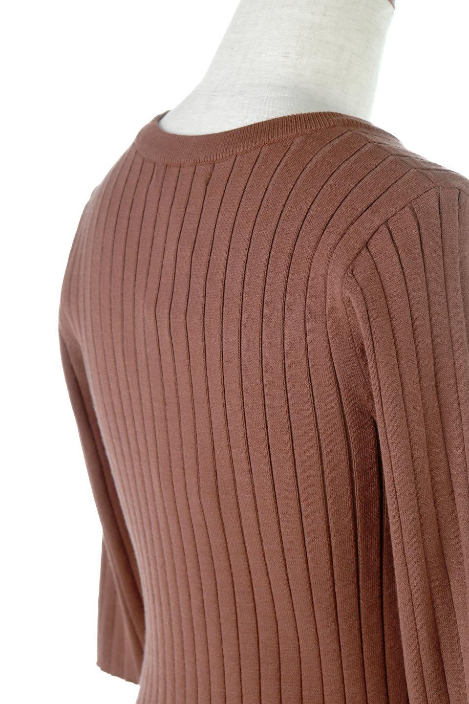 WideRibbedSummerKnitTopワイドリブ・サマーニットトップス大人カジュアルに最適な海外ファッションのothers(その他インポートアイテム)のトップスやニット・セーター。夏でも着れるシンプルデザインのサマーニット。バストラインがきれいに見えるカットラインがポイント。/main-11