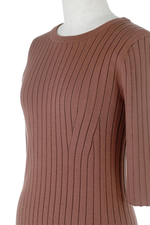 WideRibbedSummerKnitTopワイドリブ・サマーニットトップス大人カジュアルに最適な海外ファッションのothers(その他インポートアイテム)のトップスやニット・セーター。夏でも着れるシンプルデザインのサマーニット。バストラインがきれいに見えるカットラインがポイント。/main-12