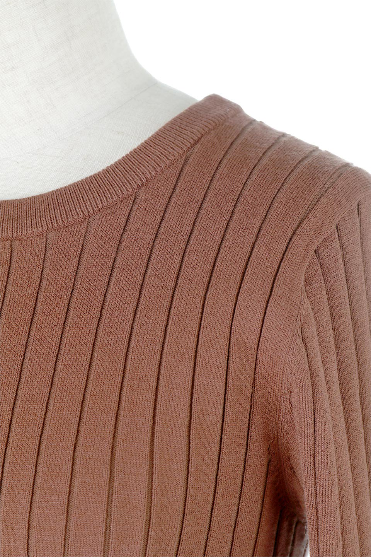 WideRibbedSummerKnitTopワイドリブ・サマーニットトップス大人カジュアルに最適な海外ファッションのothers(その他インポートアイテム)のトップスやニット・セーター。夏でも着れるシンプルデザインのサマーニット。バストラインがきれいに見えるカットラインがポイント。/main-13