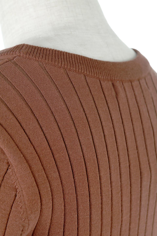 WideRibbedSummerKnitTopワイドリブ・サマーニットトップス大人カジュアルに最適な海外ファッションのothers(その他インポートアイテム)のトップスやニット・セーター。夏でも着れるシンプルデザインのサマーニット。バストラインがきれいに見えるカットラインがポイント。/main-15
