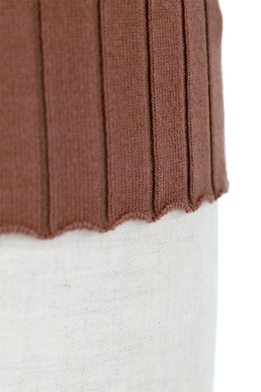 WideRibbedSummerKnitTopワイドリブ・サマーニットトップス大人カジュアルに最適な海外ファッションのothers(その他インポートアイテム)のトップスやニット・セーター。夏でも着れるシンプルデザインのサマーニット。バストラインがきれいに見えるカットラインがポイント。/main-17