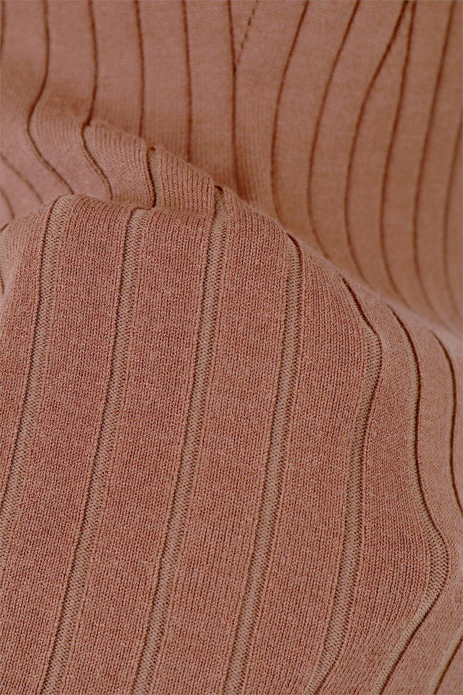 WideRibbedSummerKnitTopワイドリブ・サマーニットトップス大人カジュアルに最適な海外ファッションのothers(その他インポートアイテム)のトップスやニット・セーター。夏でも着れるシンプルデザインのサマーニット。バストラインがきれいに見えるカットラインがポイント。/main-19