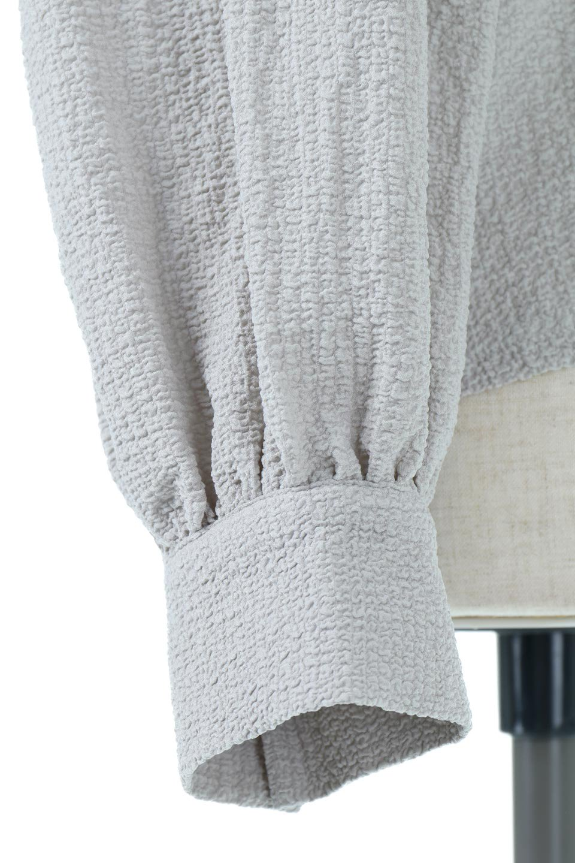 2WayRippleBlouse2ウェイ・リップル加工ブラウス大人カジュアルに最適な海外ファッションのothers(その他インポートアイテム)のトップスやシャツ・ブラウス。凹凸感があり肌触りの良いリップル生地を使用した7分袖のブラウス。シンプルデザインですが前後ろどちらでも着用可能な2Wayタイプ。/main-20