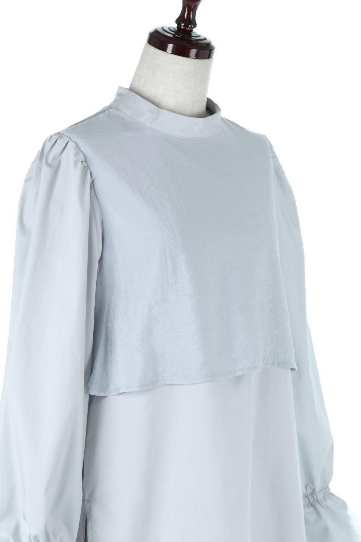 FauxLayeredCandySleeveBlouseシアーサテン・ドッキングブラウス大人カジュアルに最適な海外ファッションのothers(その他インポートアイテム)のトップスやシャツ・ブラウス。春らしい軽やかなシアー感のあるサテンをドッキングさせた長袖ブラウス。ニットベストとのドッキングブラウスよりも春夏向けのアイテム。/main-15