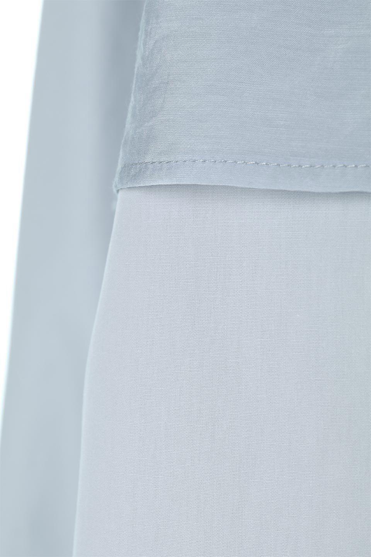 FauxLayeredCandySleeveBlouseシアーサテン・ドッキングブラウス大人カジュアルに最適な海外ファッションのothers(その他インポートアイテム)のトップスやシャツ・ブラウス。春らしい軽やかなシアー感のあるサテンをドッキングさせた長袖ブラウス。ニットベストとのドッキングブラウスよりも春夏向けのアイテム。/main-16