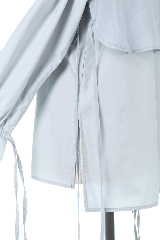 FauxLayeredCandySleeveBlouseシアーサテン・ドッキングブラウス大人カジュアルに最適な海外ファッションのothers(その他インポートアイテム)のトップスやシャツ・ブラウス。春らしい軽やかなシアー感のあるサテンをドッキングさせた長袖ブラウス。ニットベストとのドッキングブラウスよりも春夏向けのアイテム。/main-18