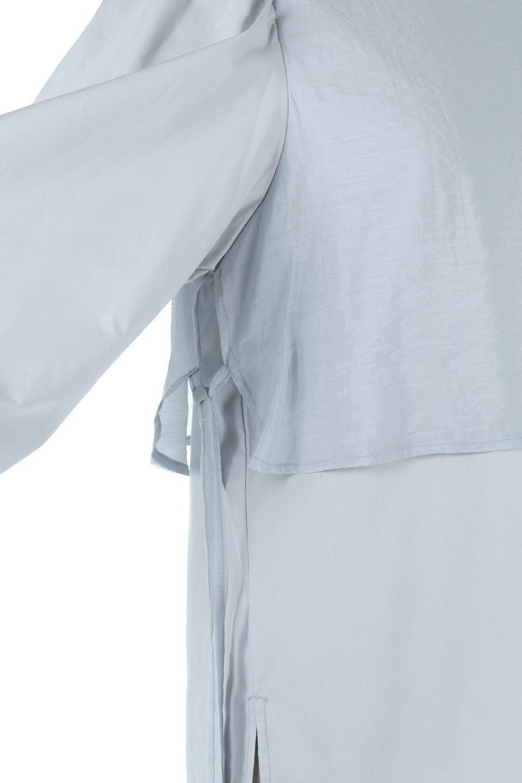 FauxLayeredCandySleeveBlouseシアーサテン・ドッキングブラウス大人カジュアルに最適な海外ファッションのothers(その他インポートアイテム)のトップスやシャツ・ブラウス。春らしい軽やかなシアー感のあるサテンをドッキングさせた長袖ブラウス。ニットベストとのドッキングブラウスよりも春夏向けのアイテム。/main-20