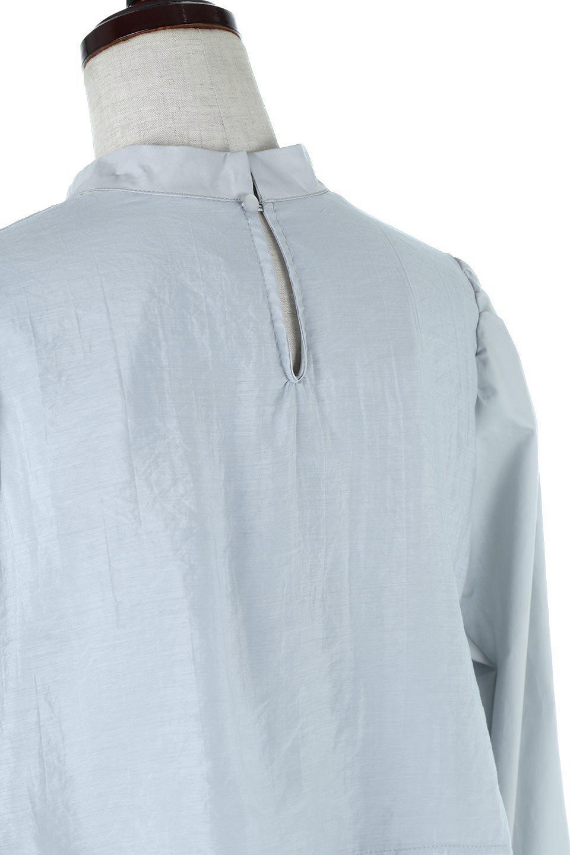 FauxLayeredCandySleeveBlouseシアーサテン・ドッキングブラウス大人カジュアルに最適な海外ファッションのothers(その他インポートアイテム)のトップスやシャツ・ブラウス。春らしい軽やかなシアー感のあるサテンをドッキングさせた長袖ブラウス。ニットベストとのドッキングブラウスよりも春夏向けのアイテム。/main-21