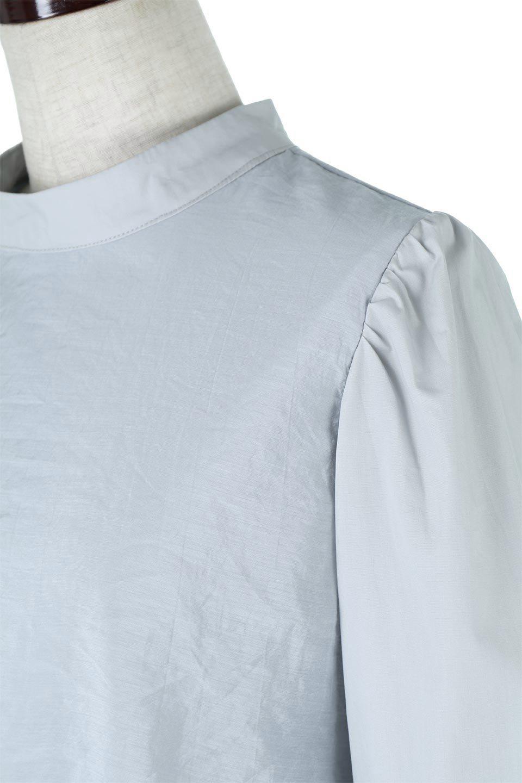FauxLayeredCandySleeveBlouseシアーサテン・ドッキングブラウス大人カジュアルに最適な海外ファッションのothers(その他インポートアイテム)のトップスやシャツ・ブラウス。春らしい軽やかなシアー感のあるサテンをドッキングさせた長袖ブラウス。ニットベストとのドッキングブラウスよりも春夏向けのアイテム。/main-23