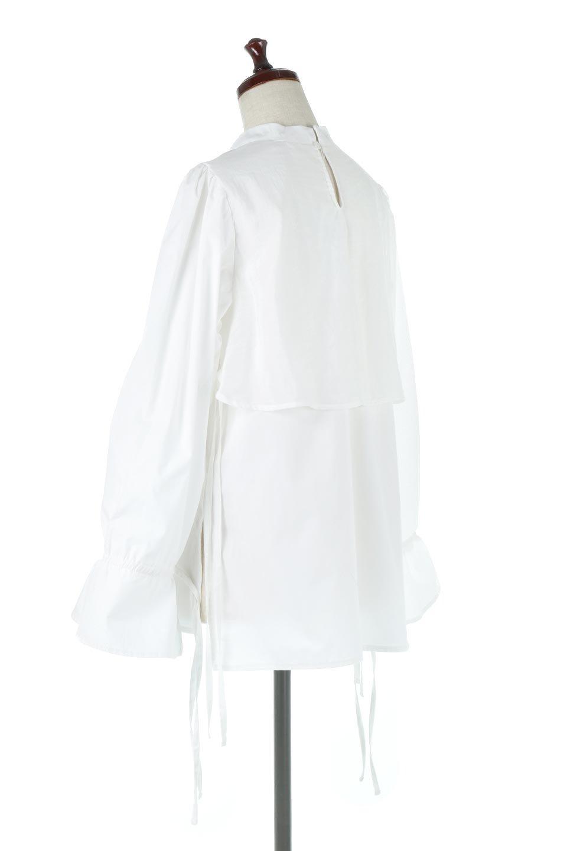 FauxLayeredCandySleeveBlouseシアーサテン・ドッキングブラウス大人カジュアルに最適な海外ファッションのothers(その他インポートアイテム)のトップスやシャツ・ブラウス。春らしい軽やかなシアー感のあるサテンをドッキングさせた長袖ブラウス。ニットベストとのドッキングブラウスよりも春夏向けのアイテム。/main-3