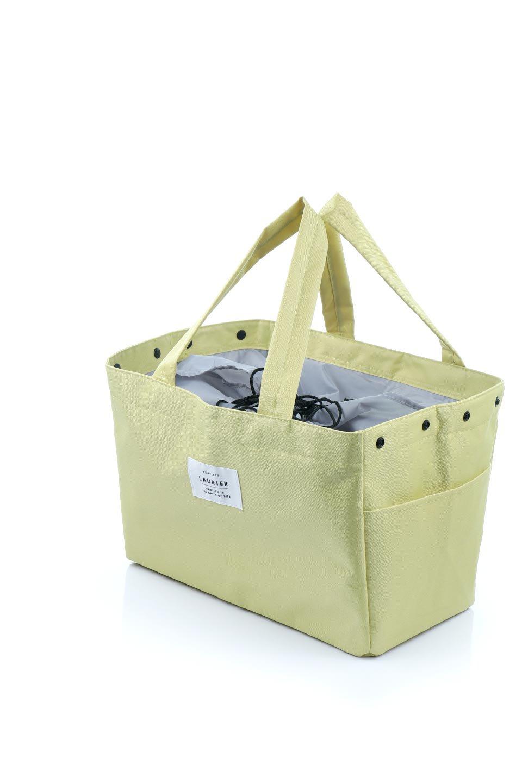 FoldingShoppingCoolerBasket(Mimosa)保冷保温・折りたたみレジカゴエコバッグ(ミモザ)大人カジュアルに最適な海外ファッションのothers(その他インポートアイテム)のバッグやその他。レジカゴにジャストフィットの折りたたみエコバッグ。保温、保冷効果を高めるアルミ加工で、両サイドのポケットは保冷剤を入れて更に保冷効果を高めることができます。/main-8