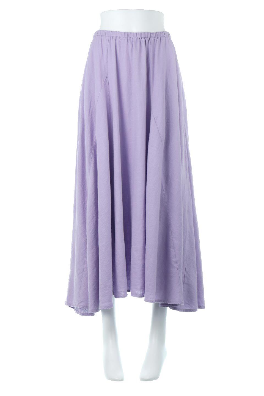 LinenMixLongSummerSkirt麻混・フレアロングスカート大人カジュアルに最適な海外ファッションのothers(その他インポートアイテム)のボトムやスカート。リネンのさらっとした風合いとレーヨンのしなやかさを兼ね備えたロング丈のフレアスカート。リネンとレーヨンをほぼ半々に混ぜ込んだ生地は、程よいハリがありながらもしなやかに落ちて綺麗なシルエットを作ってくれます。
