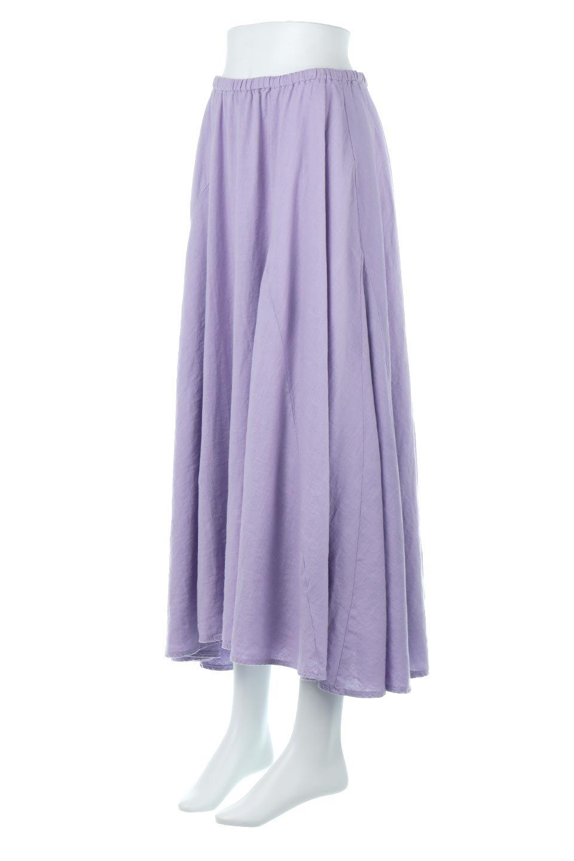 LinenMixLongSummerSkirt麻混・フレアロングスカート大人カジュアルに最適な海外ファッションのothers(その他インポートアイテム)のボトムやスカート。リネンのさらっとした風合いとレーヨンのしなやかさを兼ね備えたロング丈のフレアスカート。リネンとレーヨンをほぼ半々に混ぜ込んだ生地は、程よいハリがありながらもしなやかに落ちて綺麗なシルエットを作ってくれます。/main-1