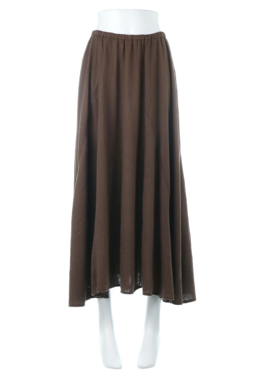 LinenMixLongSummerSkirt麻混・フレアロングスカート大人カジュアルに最適な海外ファッションのothers(その他インポートアイテム)のボトムやスカート。リネンのさらっとした風合いとレーヨンのしなやかさを兼ね備えたロング丈のフレアスカート。リネンとレーヨンをほぼ半々に混ぜ込んだ生地は、程よいハリがありながらもしなやかに落ちて綺麗なシルエットを作ってくれます。/main-10