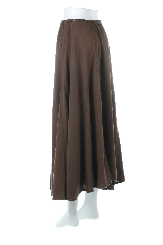 LinenMixLongSummerSkirt麻混・フレアロングスカート大人カジュアルに最適な海外ファッションのothers(その他インポートアイテム)のボトムやスカート。リネンのさらっとした風合いとレーヨンのしなやかさを兼ね備えたロング丈のフレアスカート。リネンとレーヨンをほぼ半々に混ぜ込んだ生地は、程よいハリがありながらもしなやかに落ちて綺麗なシルエットを作ってくれます。/main-13