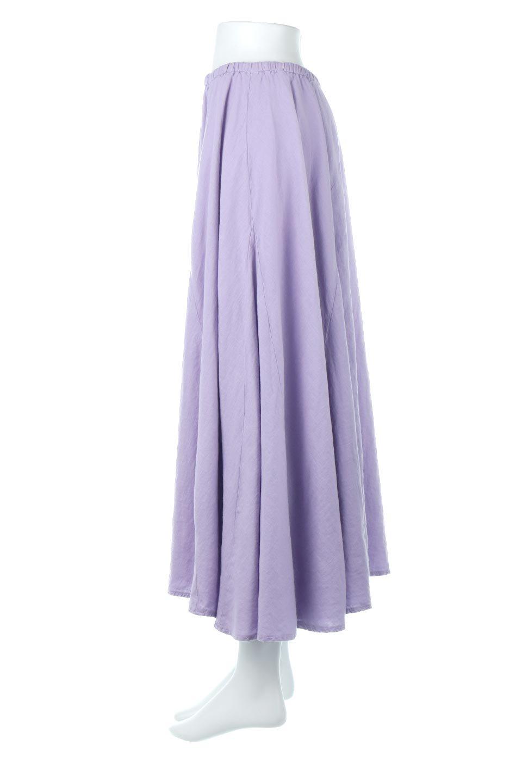 LinenMixLongSummerSkirt麻混・フレアロングスカート大人カジュアルに最適な海外ファッションのothers(その他インポートアイテム)のボトムやスカート。リネンのさらっとした風合いとレーヨンのしなやかさを兼ね備えたロング丈のフレアスカート。リネンとレーヨンをほぼ半々に混ぜ込んだ生地は、程よいハリがありながらもしなやかに落ちて綺麗なシルエットを作ってくれます。/main-2