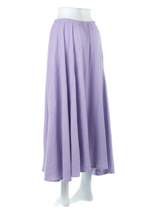 LinenMixLongSummerSkirt麻混・フレアロングスカート大人カジュアルに最適な海外ファッションのothers(その他インポートアイテム)のボトムやスカート。リネンのさらっとした風合いとレーヨンのしなやかさを兼ね備えたロング丈のフレアスカート。リネンとレーヨンをほぼ半々に混ぜ込んだ生地は、程よいハリがありながらもしなやかに落ちて綺麗なシルエットを作ってくれます。/main-3