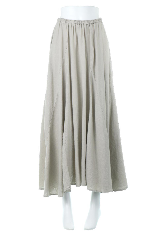LinenMixLongSummerSkirt麻混・フレアロングスカート大人カジュアルに最適な海外ファッションのothers(その他インポートアイテム)のボトムやスカート。リネンのさらっとした風合いとレーヨンのしなやかさを兼ね備えたロング丈のフレアスカート。リネンとレーヨンをほぼ半々に混ぜ込んだ生地は、程よいハリがありながらもしなやかに落ちて綺麗なシルエットを作ってくれます。/main-5